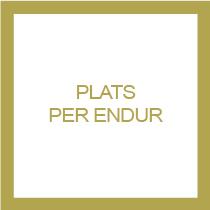 PLATS PER ENDUR CATALA