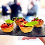 Canapes de pebres torrants
