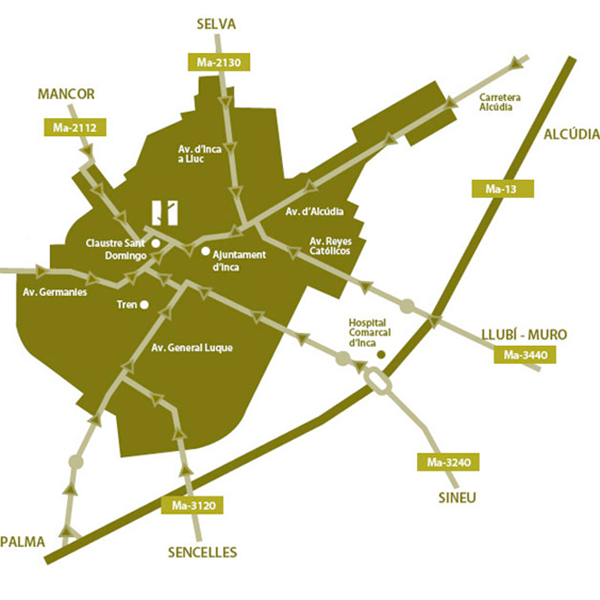 Mapa Joan Marc Restaurant